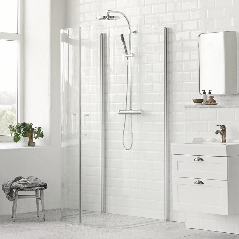 duschvägg mitt på vägg
