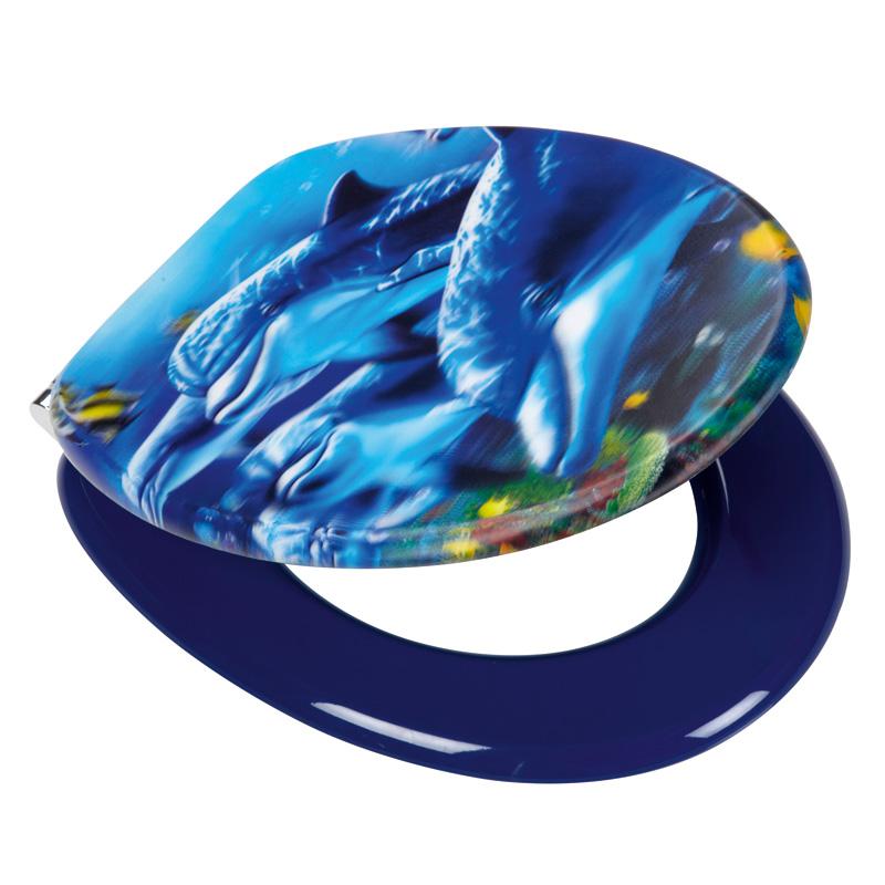 Hemma matta delfin i badrum