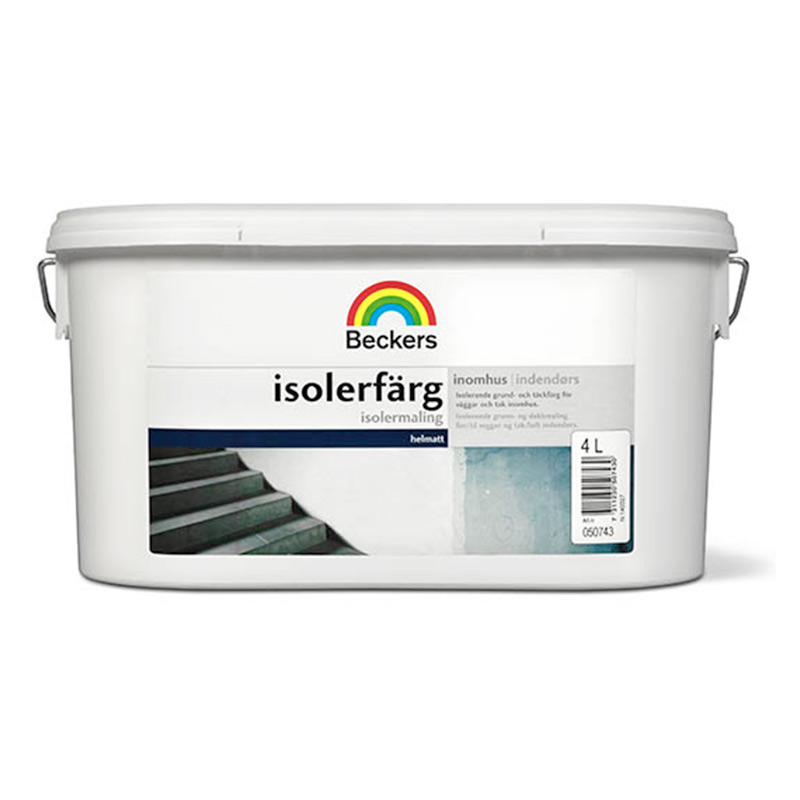 ISOLERFÄRG BECKERS VIT 4L - Väggfärg - Färg Inomhus - Färg   Tapet a802580fcaee2