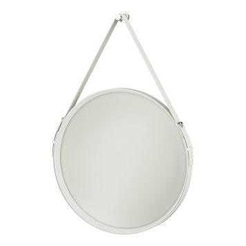 vit rund spegel