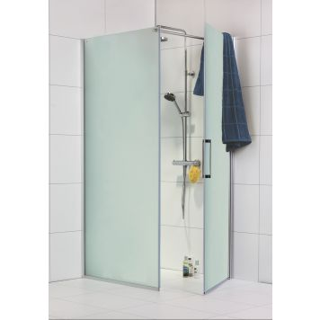 Duschvägg+dörr Noro Frost 70/80/90/115 cm frostglas