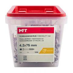 TRALLSKRUV MFT SYRAFAST 4,2X75MM 200ST/FP