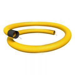 korrugerad slang gul