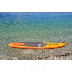 PADDLE BOARD SET VIAMARE RACE 380CM ORANGE/GUL 150 KG