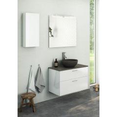 OBS! Bilden visar ett underskåp 80 cm med fristående tvättställ