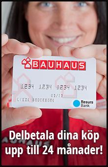 Delbetala dina köp upp till 24 månader med BAUHAUS-kortet!