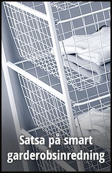 Satsa på smart garderobsinredning