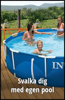 Svalka dig med egen pool